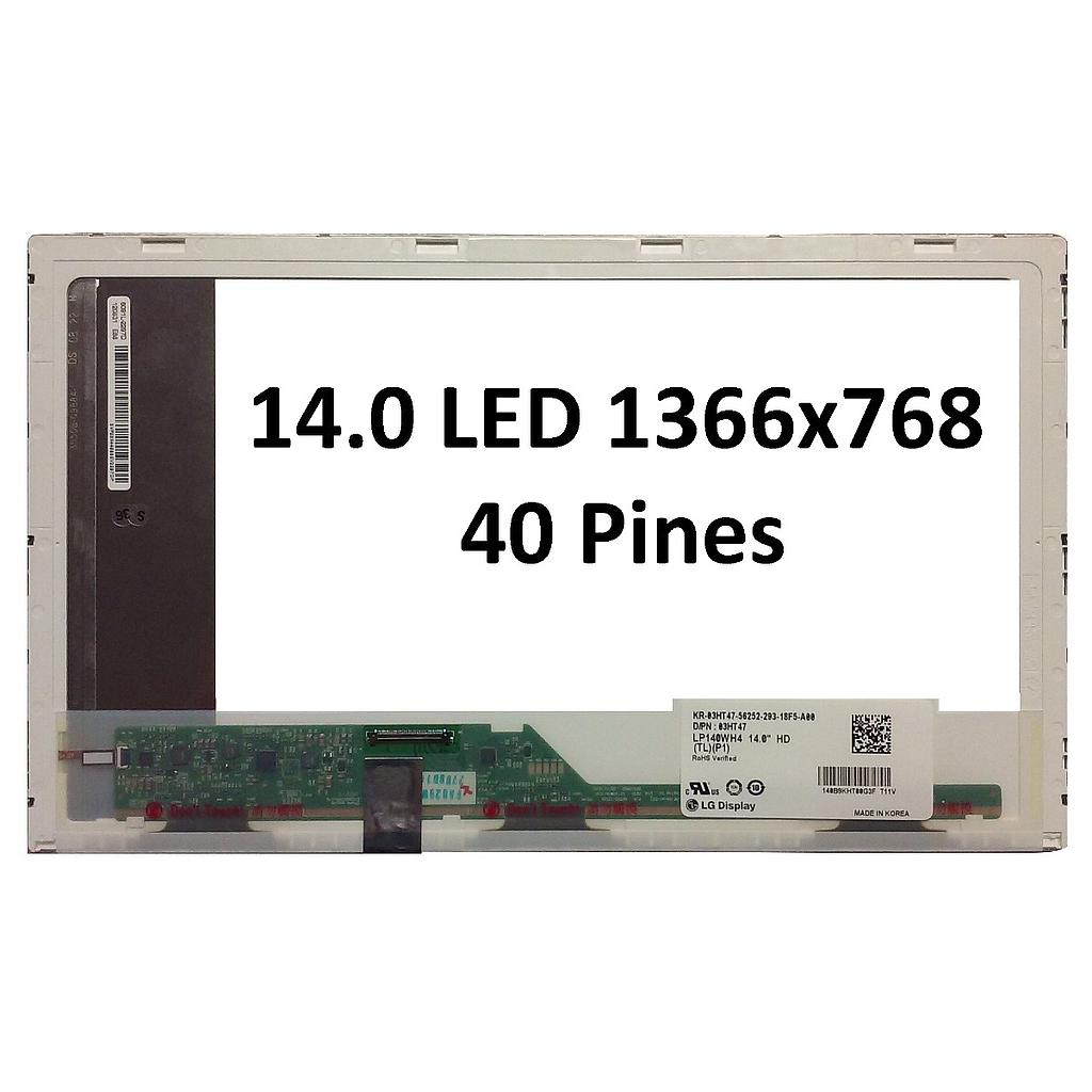 Display Laptop LED normal 14.0 40 pines (1366x768)HD