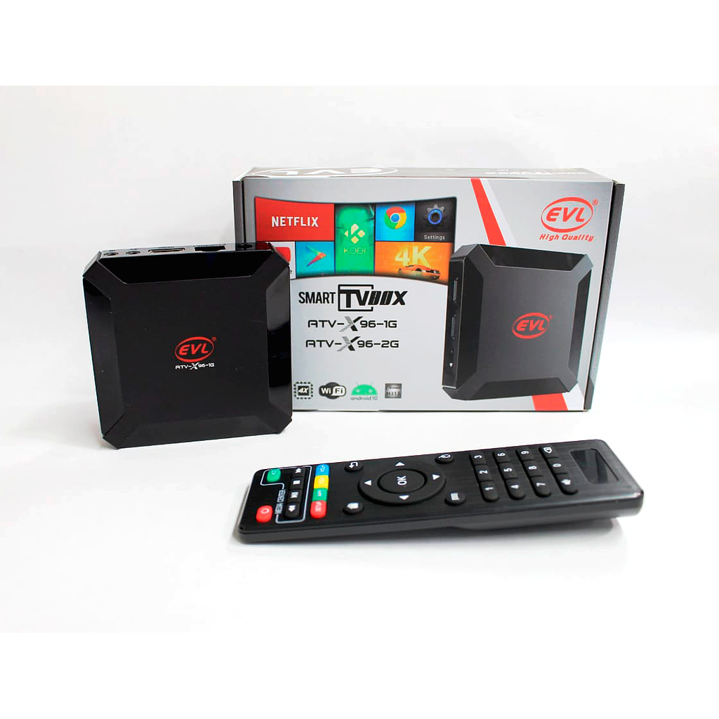 TV BOX, Android 10, 1Gb Ram, 8Gb Rom, Ultra HD, Wifi, HDMI, LAN, USB, MICRO SD-Kodi, Netflix,  Potente